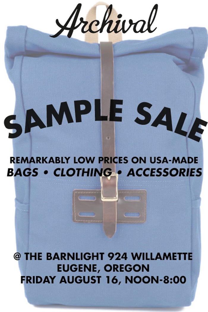 Sample Sale 8-16-2013
