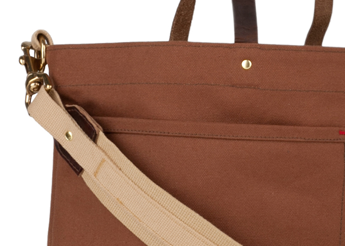 Archival Shoulder Tote Cinnamon Angle