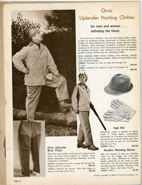 Shopping from 1968 Orvis Hunting Catalog
