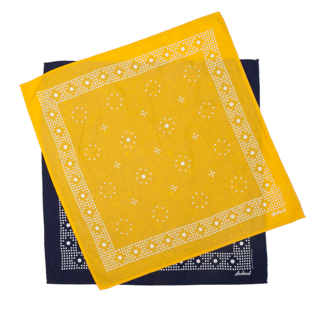 Kerchief  Navy Square Duo Hi Res