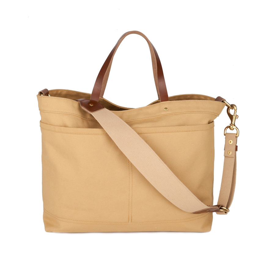 Shoulder Tote Front 2 Tan