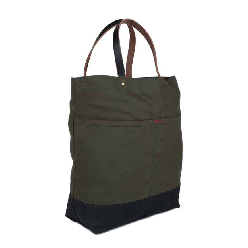 Market Tote Wax Bottom Olive Angle F18